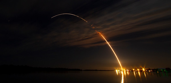 Night Rocket Launch