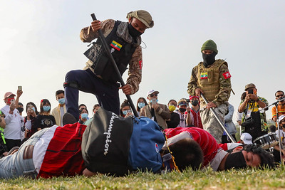 Demonstrators protest Myanmar coup in Washington, D.C.