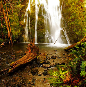 Madison Falls near the Elwha River west of Port Angeles, Washington