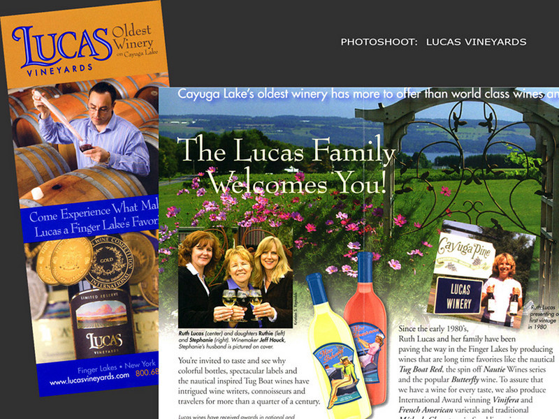 Lucas Vineyards, Brochure
