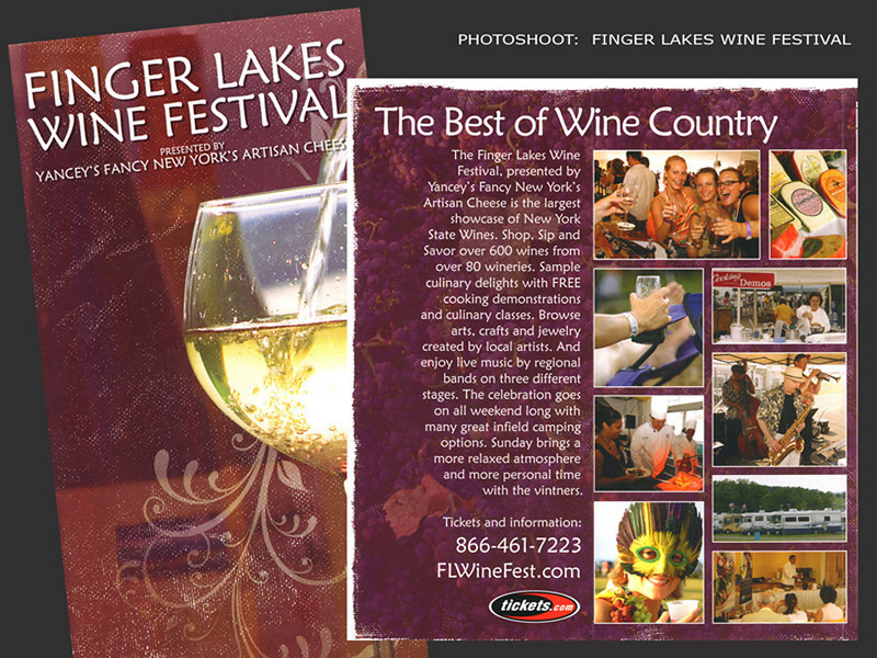 Finger Lakes Wine Festival, Brochure