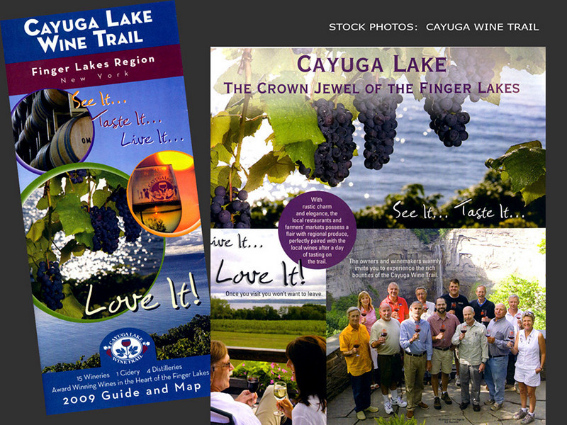 Cayuga Lake Wine Trail, Brochure