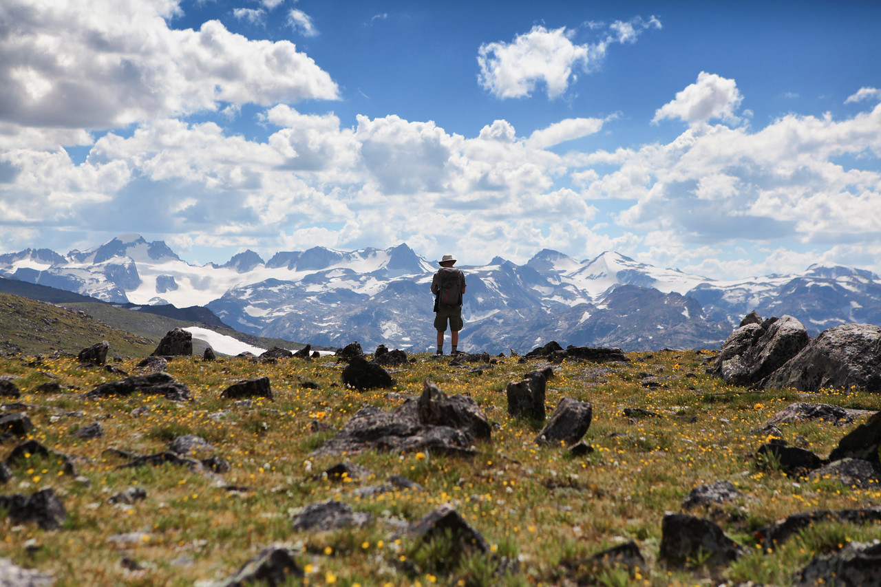 Looking onto the continental divide an a lifetime's supply of places to explore