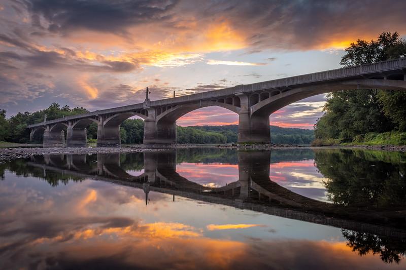 Sunset at Nurse Helen Fairchild Memorial Bridge - Watsontown, Pennsylvania