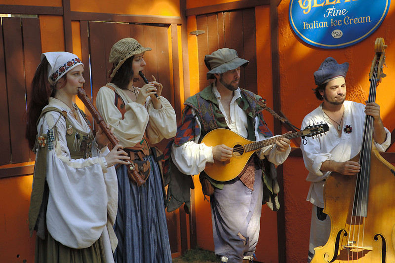 Music is everywhere - from individual performers up to choruses of 50 or more.  They frequently feature unusual instruments.