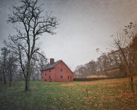 Salem Witch Hunt Locations: The Rebecca Nurse Homestead, circa 1678 . Danvers, Formerly Salem Village, Essex County, Massachusetts