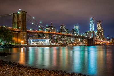 Brooklyn Bridge & New York Skyline