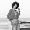 Model photo shoot in Laguna Beach