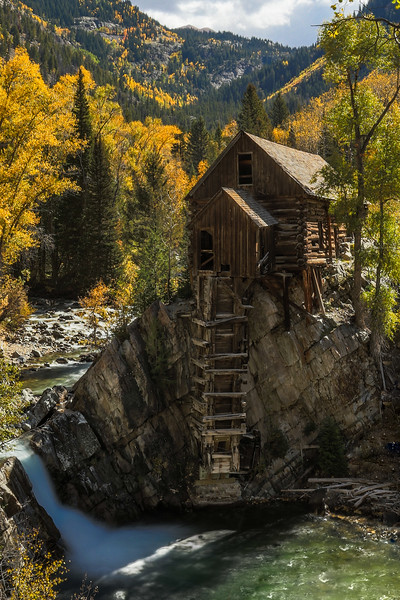 The Old Crystal Mill near Crystal Colorado
