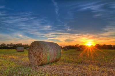 A Hay Bale Sunset