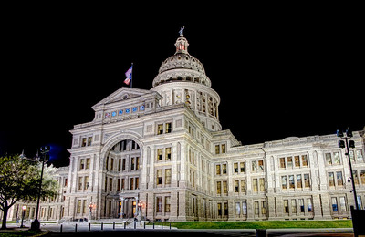 Texas State Capitol I remember once about 20 years ago, before 911, I went to the Texas State Capitol and could walk around inside well into the night. The interior office doors were closed, but you could visit the rotunda and admire the architecture of the stately building.  I've been to Austin several times since then, but hadn't stopped there for a visit. Last month, we made an unplanned stop and had to settle for an exterior walk-around. That was fine though, since there is still lots to see outside and it gives me an excuse to go back soon.