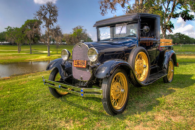 The Old Model A  This 1929 Ford Model A Roadster Pickup was on the edge of the cars gathered for a recent show. The timeless backdrop was ideal for showcasing this beautiful classic.