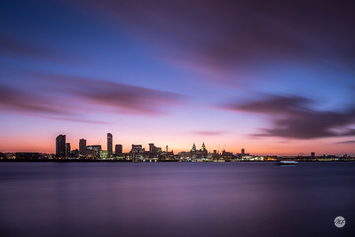 Pre-dawn over Liverpool