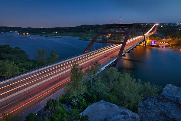 The Pennybacker Bridge at Twilight