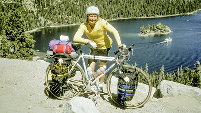 September of 1990.  Everything fresh, clean and new.  Emerald Bay was my first stop 19 miles into what would become an Epic 2 year, 25,000 mile adventure riding my bicycle around the world.