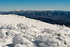 A clear view from Moosilauke, to the Franconia and Presidential Ranges.