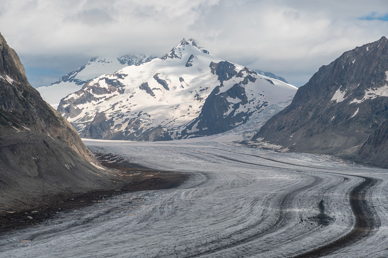 Aletsch glacier and, I believe,  the Wannenhorns (big and small).