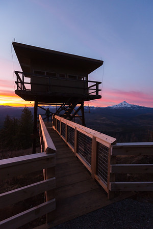 Fire Lookout Sunset