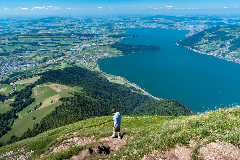 We chose an especially steep trail down from Rigi. Zugersee dominates the view.