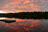 Sunset over our dock on the Connecticut River.