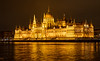 Parliament building, seen across the Danube - Budapest.