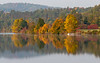 Vermont fall foliage along the Connecticut River, seen from Lyme, NH.