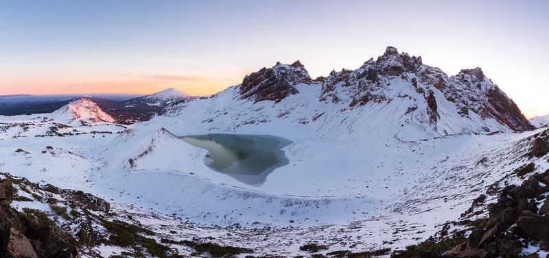 Broken Top Winter Panorama