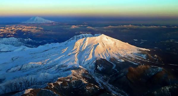 Mt. St. Helens and Mt Adams - Washington State