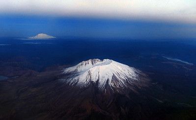 Mt St Helens and Mt Adams - Washington State