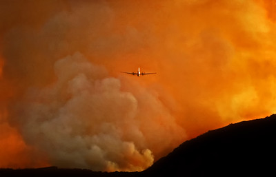 Green meadow fire - Malibu, California 1993
