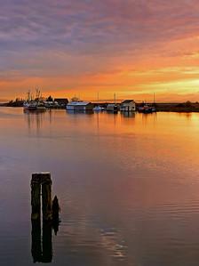 Sunset view from Westham Island Bridge - Ladner, B.C.