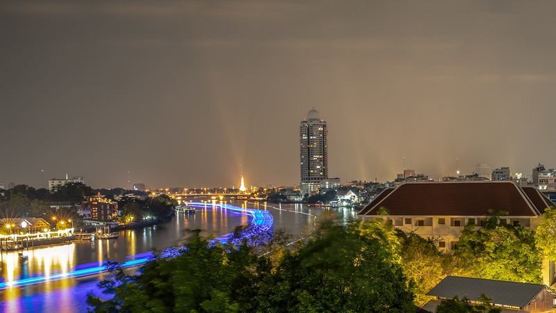 Chao Phraya River at night -Bangkok
