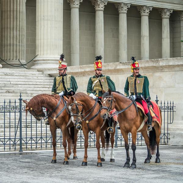 Horseback Guards, Budapest, Hungary