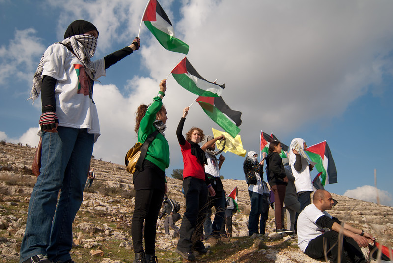 Palestinians, joined by Israelis and internationals, demonstrate against the occupation 巴勒斯坦人、以色列人及國際人士一同參與反對軍事佔領的示威