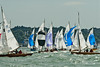 XOD one design x171, x192, x124,  taking part in racing on day 8 Cowes week 2013