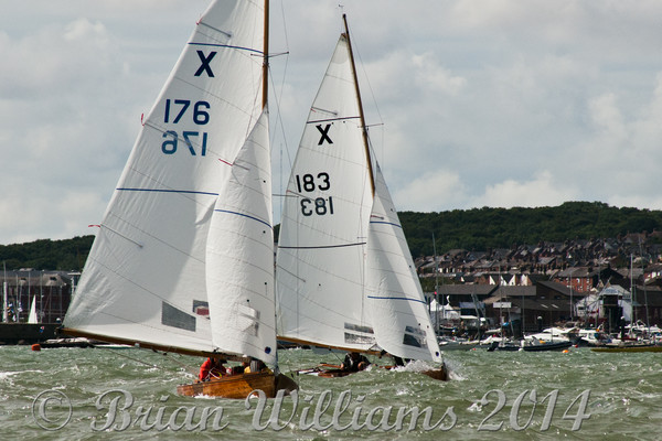 XOD one design at the  start line Royal Yacht Squadron Cowes Week 2014