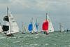 "cowes week 2013,  XOD one design x12 ""Gypsie"" , x37 ""Ariel"" taking part in racing on day 8."