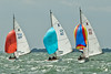 "cowes week 2013,  XOD one design x127 ""Rachel"" , x42 ""Julia"" , x115 ""Mix"" taking part in racing on day 8."
