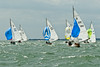 "cowes week 2013,  XOD one design x156 ""Gleam"" , x52 ""Anitra"" , x192 ""Felix"" taking part in racing on day 8."