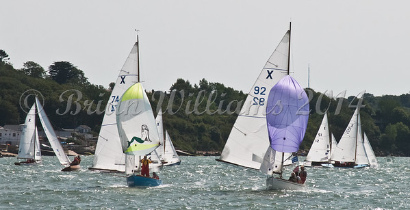 """X One Design racing X92 """"Persephone"""" at AAM Cowes Week 2014"""