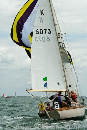 "K6073 ""True Love"" a Holman 26 skippered by Jane Gerber taking part in racing on day 8 Cowes week 2013"