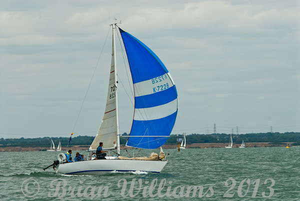 K7228 Hannah J, an Eygthene 24 taking part in the IRC 7 race day 8 Cowes Week 2013