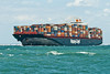 The Kuala Lumpur Express 336 meters long with a beam of 42 meters, gross tonnage 93,811tonne. It is traveling up the solent on route to Southamton Docks,