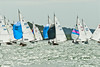 XOD one design taking part in racing on day 8 Cowes week 2013
