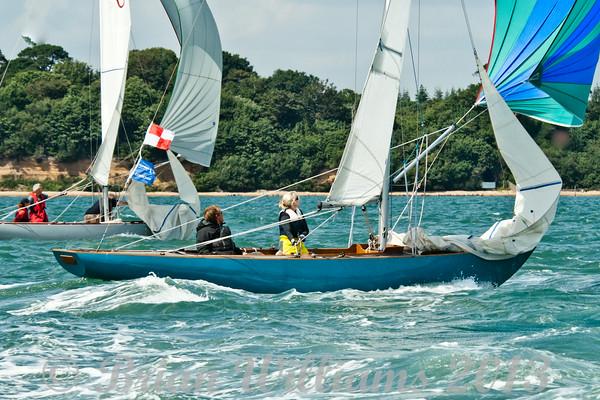 Seaview mermaids racing on day 8 Cowes week 2013