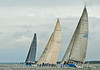 Tonnerre De Breskens 3 being chased by Italia and Aberdeen Asset Management, Day 1 Cowes Week 2014