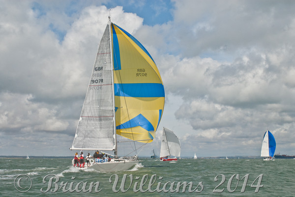 """Palpatine"" GBR907R racing at Cowes Week 2014"