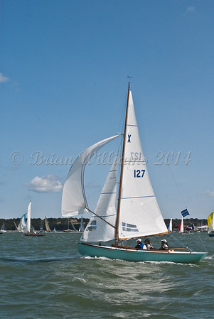 "X One Design racing X127 ""Rachel"" at AAM Cowes Week 2014"