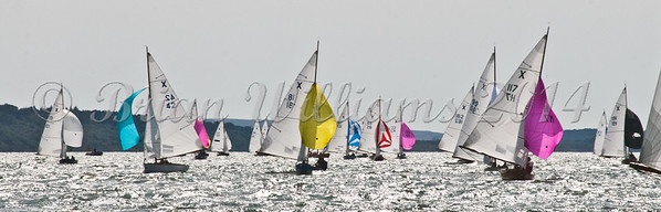 """X One Design racing X81 """"Sapphire"""" at AAM Cowes Week 2014"""