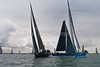 "GBR 1682R ""Tokoloshe II"" and MON 888 ""Cape Fling II"" NED 46 ""Tonnerre de Breskens"" at start of racing AAM Cowes \Week 2014"